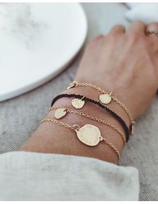 """Bracelets """"Âmes Sauvages"""" petits médaillons"""